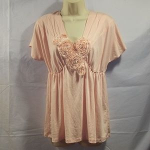 CR Charlotte Russe Top Floral Elastic Size Medium